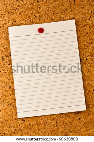 message note on cork board - stock photo