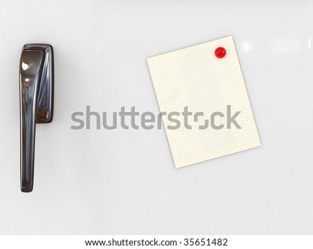message paper on refrigerator