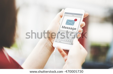 Message Text Mail Chat Communication Concept #470005730