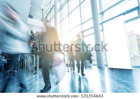 Messe Bussines Stock Photo