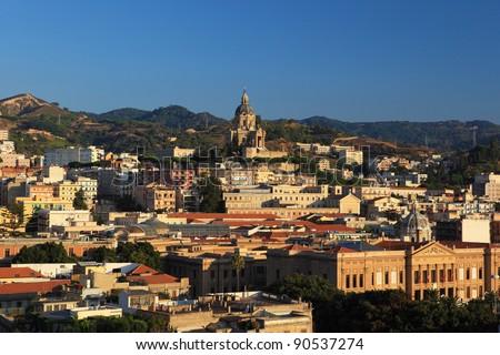 Messina cityscape. Sicily island. Italy