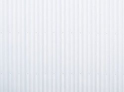 Metal aluminum silver corrugated stripe sheet wall background with texture vertical lines