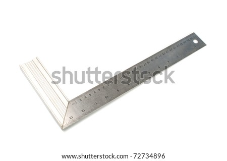 Metal angle on a white background