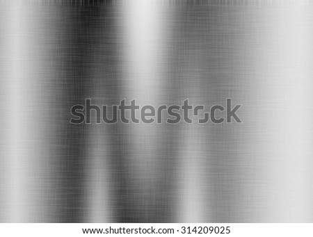 Metal background or texture of brushed steel plate with reflections Iron plate and shiny #314209025