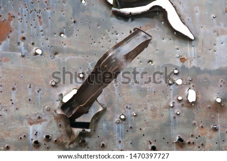 Grunge Metal Armor Background With Bullet Holes Images And