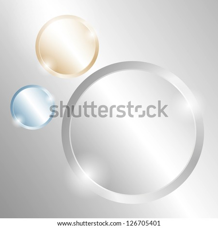 Metal background with circles of different material. Raster version of the loaded vector.