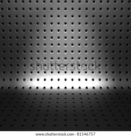 Metal Background with Little Holes