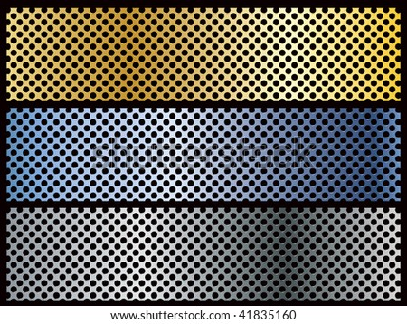Metal backgrounds - stock photo