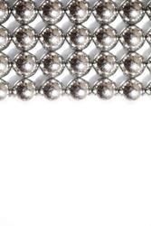 Metal balls close up. Balls of neodymium (magnets). magnetic ball bearing tiling in perfect hexagonal grid