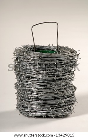 Metal barbed wire