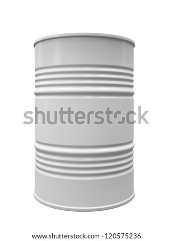 Metal barrel isolated on white background illustration