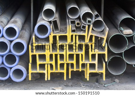 Metal beam and tube for construction industry