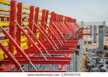 Metal beams and wooden beams for bridge construction #1305041554