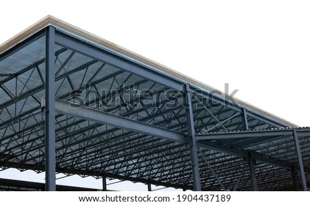 metal beams frame structure construction site  Photo stock ©