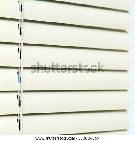 Metal Blinds with drawstring. Blinds texture