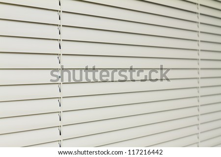 Metal Blinds with drawstring. Roller Shutter Background