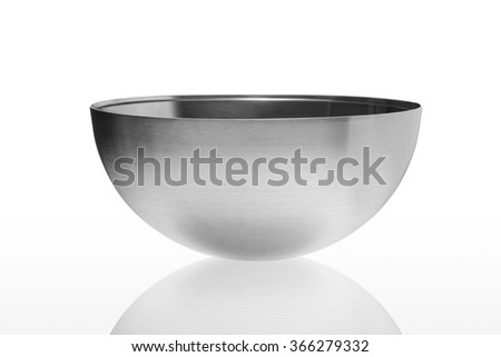 Metal bowl isolated on white background #366279332