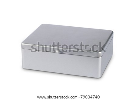 Metal box isolated on white