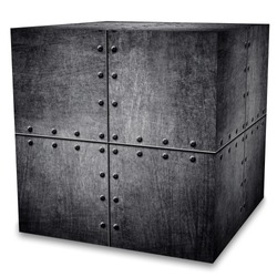 metal box (isolated with clipping path)