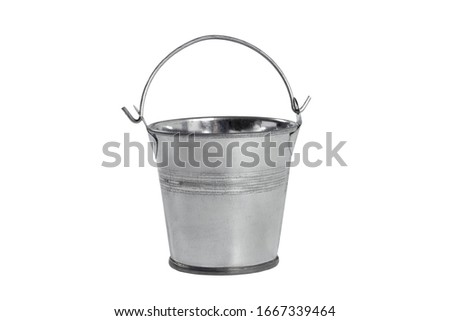 Metal bucket isolated on a white background. ストックフォト ©