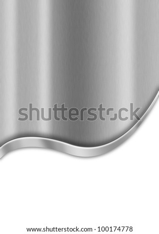 Metal Business Background / Metallic template background with wave and reflections - stock photo