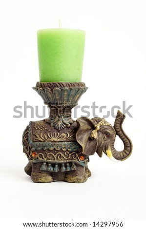 Metal candlestick made in India - stock photo