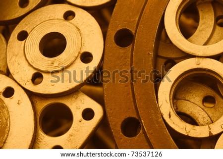 metal circles sepia