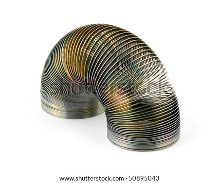 Metal coil isolated on white