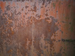 Metal corroded and rust texture background with shallow depth of field.