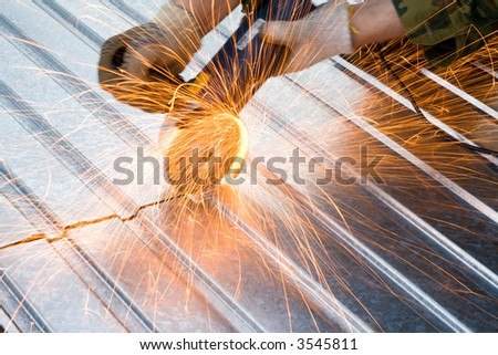 metal cutting sparks