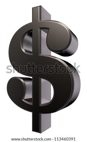 metal dollar symbol - 3d illustration