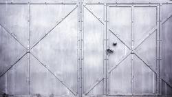 Metal door gate texture.