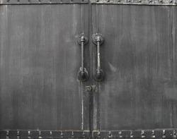 metal door rusty corroded texture background