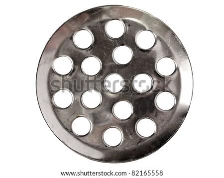 Metal drain cap - stock photo