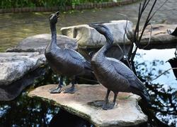 metal duck sculptures