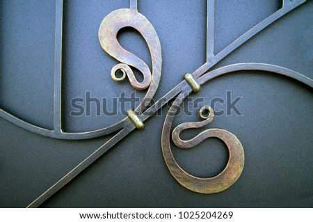 metal elements forged wrought iron gates #1025204269