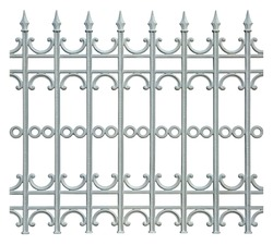 metal fence isolated on white