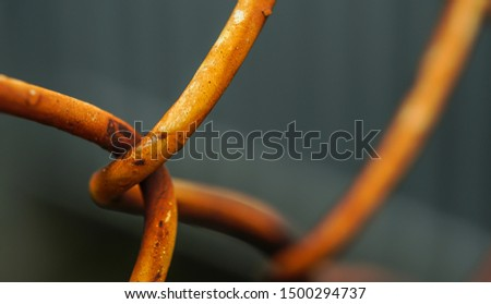 Metal fence.Rusty mesh fence.photophone,Close-up photos .background.  #1500294737