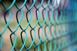 metal fencing in the field