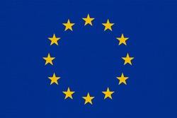 metal flag of the European Union (EU) aka Europe