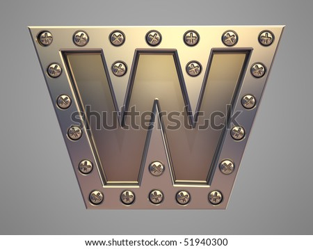 Metal font screw rivet