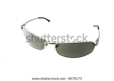Metal frame sunglasses isolated on white