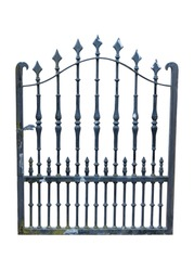 metal gate isolated on white background