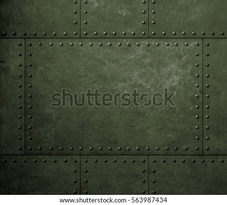 metal green armor background with rivets