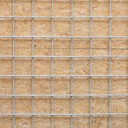 Metal grid and wooden board texture