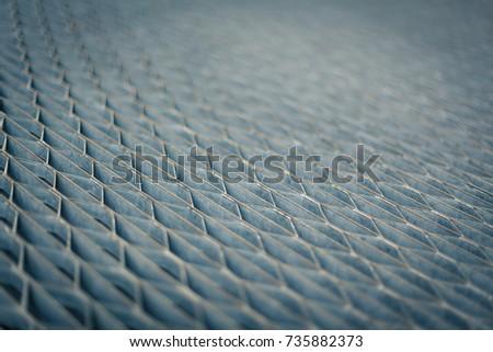 Metal grid perspective #735882373