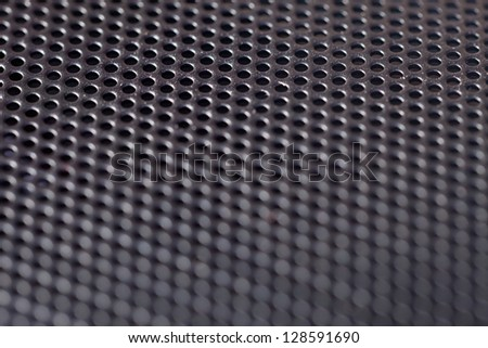 metal hole background (Closeup of speaker)