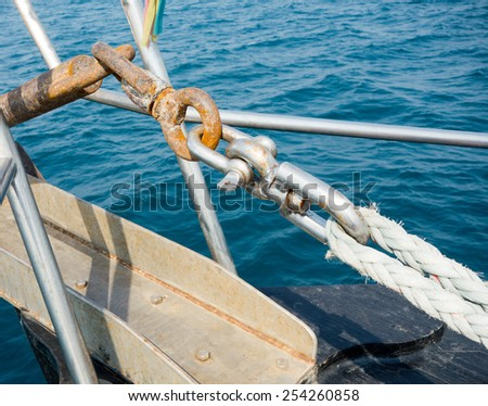 metal hooks and rope