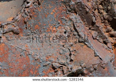 Metal in corrosion and a rust-fine a relief bright background for creation of modern city graphic design