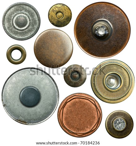 Metal Jeans Buttons Metal Jeans Buttons Set